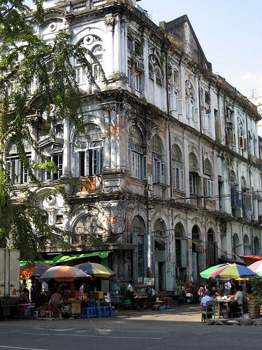 Мьянма, Улицы Янгона в центре